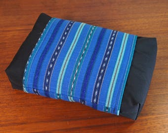 Organic Buckwheat Neck & Back Pillow with Hand Woven Fair Trade Guatemalan fabric Cover