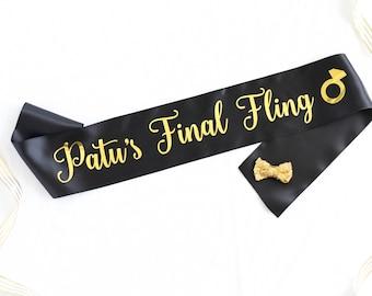 Personalized Final Fling Bachelorette Sash - Final Fling Sash - Final Fling Bachelorette - Bride's Final Fling - Bachelorette Sash