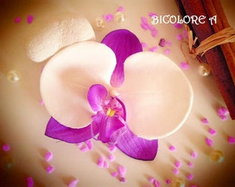Purple Orchid hair clip