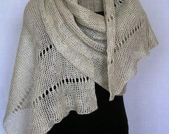 Natural Linen Shawl - Wedding Shawl -pure Linen Wrap  Linen Flax Shawl Natural Linen Scarf  Bridesmaids Wrap grey linen scarf