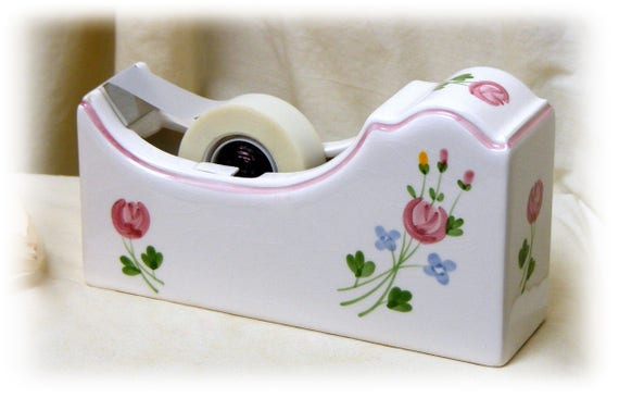 Pretty Vintage Tape Dispenser (1987)