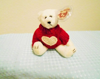 """Ty Attic Treasure Collection """"NICHOLAS"""" Official Mascot Of The Ty Collectible Convention Held In Baltimore Maryland/Postcard & Pin W Bear!"""