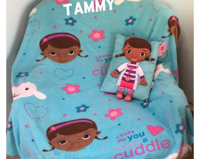 Disney Doc McStuffins Snuggle Set Doll Pillow Blanket Personalized