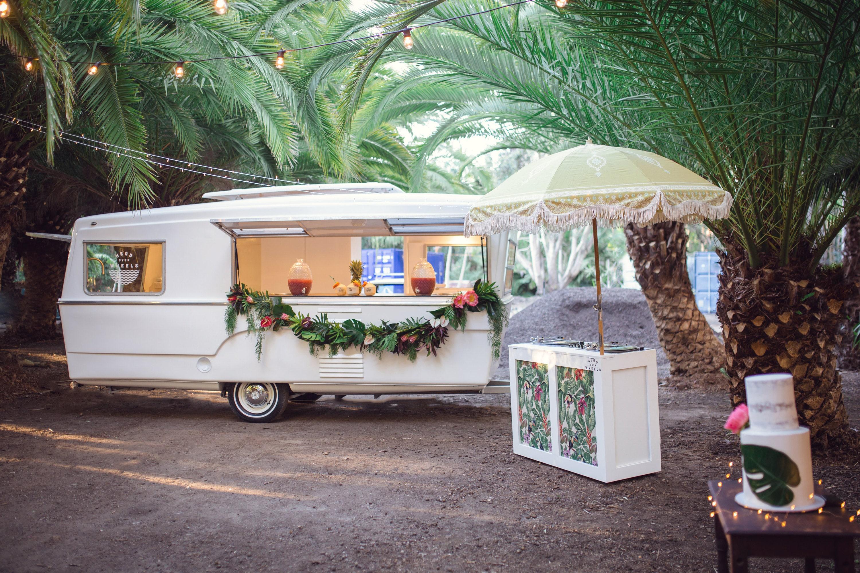 Vintage Wedding Caravan, DJ and cake