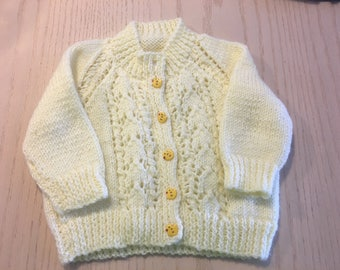 Hand knit Lace Baby Sweater