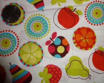 Apples Pears Strawberries Limes JoAnn Cotton Quilting Fabric BTY by the yard