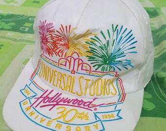 Vintage Rare Universal Studios Hollywood 30th anniversary 1994 snapback cap
