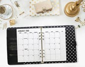 A5 2018 Monthly printed planner calendar - Mo2P - month on 2 page - monthly calendar - #102-18