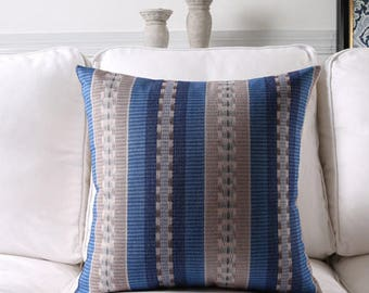 Decorative pillow, cushion cover blue decorative pattern home throw pillow shell customized size