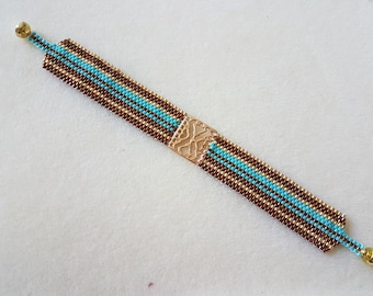 Filigree bracelet peyote stitch print