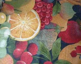 Fabric cotton multicolored fruit print
