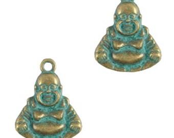 "Boho Metal Pendant ""Buddha""-1 piece-Patina"