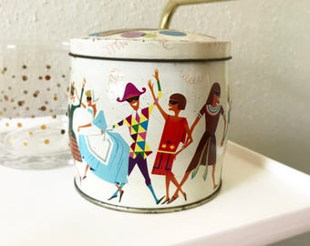 Vintage Masquerade Retro Pascall Tin - English Toffee & Chocolates
