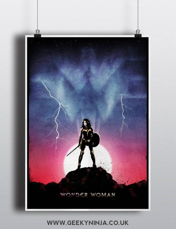 Wonder Woman Inspired Poster - Wonder Woman Inspired Minimalist Poster