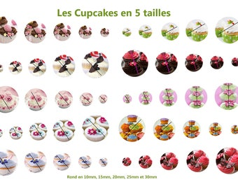 Cupcakes: 50 round images 5 sizes
