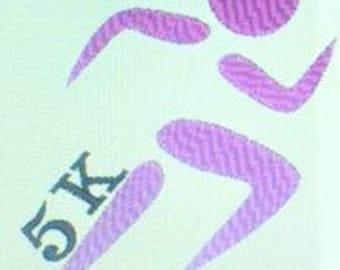 Runner Stick Person Machine Embroidery Design - 5K Run Digital Download - Run- 3 Sizes - INSTANT Download