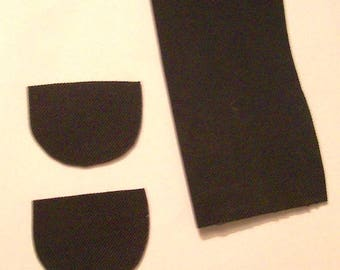 Rubber piece for heel shapes small black rubber piece to make heel shapes will make one pair