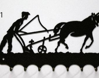 Hangs 26 cm pattern metal keys: the plough 2 peasant