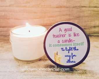 Teachers gift|end of year gift for teachers|teacher  appreciation gift|teachers Aid gift|small gift for teachers|teacher qoute|herbal candle