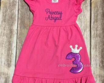 Third Birthday Princess Dress, Princess Birthday Dress, Princess Birthday Outfit, Girls Birthday Dress, Birthday Dresses for Girls