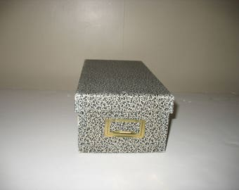 "Small Card File Box Reinforced Board for 3x5"" Index Cards"