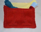 Baby Washcloths, Hand Knit Washcloths, Personalized Baby Washcloths, Baby Shower Gift Idea