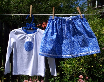 Snowflake Skirt and T-Shirt Set, 3T