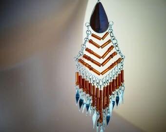 Beaded Earrings Dangle Earrings bead earrings gift for her earrings long earrings boho earrings beadwork beaded jewelry jewelry beads  @8