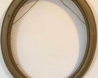 Antique Victorian Wood Oval Gold Frame