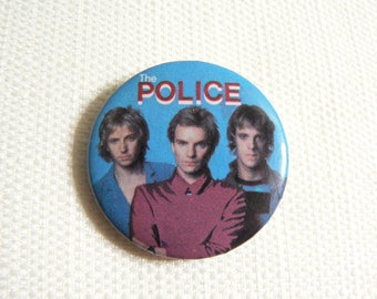 Vintage 80s The Police - Sting Pin / Button / Badge (Date Stamped 1983)