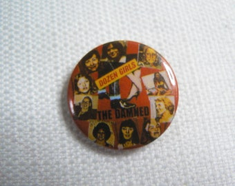 Vintage 80s The Damned - Dozen Girls Single (1982) Pin / Button / Badge