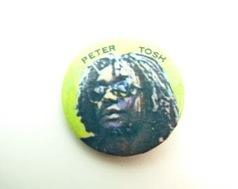 Vintage Early 80s Peter Tosh -  Pin / Button / Badge