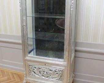 Baroque Cabinet, silver, Black Interior lining
