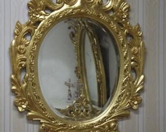 Baroque mirror antique style shock gold AlMi0140GGo