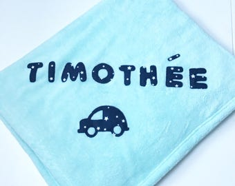 Personalized baby Timothy cover.