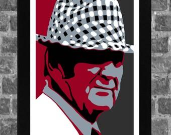 Alabama Crimson Tide Bear Bryant Portrait Sports Print Art 11x17