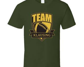 Team Klausing Last Name Football T Shirt