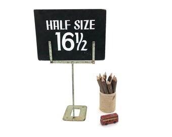 Metal Display Sign Holder - Vintage Store Table Top Display Frame - Vintage Sign Stand - Advertising Display Sign Holder - Prop