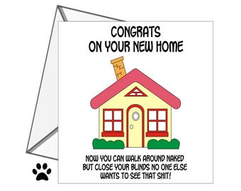 Congrats New House rude new home card | etsy
