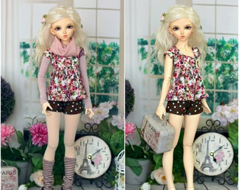 2 in 1 outfit for Minifee, MSD, BJD doll 1/4 size