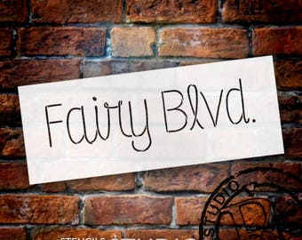Fairy Blvd. - Skinny Script - Word Stencil - Select Size - STCL2178 - by StudioR12
