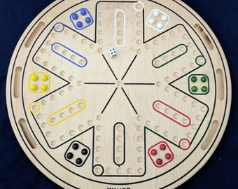 6 Player Wahoo / Aggravation Board w/ built in storage