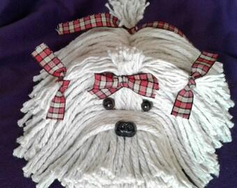 Cute Country Plaid Mop Dog -Havanese - Shih Tzu - Maltese - Lhasa Apso - Bichon  - Schnauzer - Coton De Tulear - Terrier - Lowchen