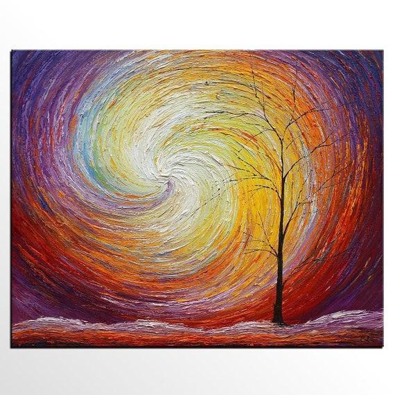 Abstract Landscape Painting LARGE Art Canvas Art Original
