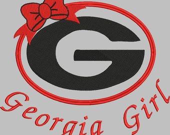 Georgia Bulldogs football machine embroidery design