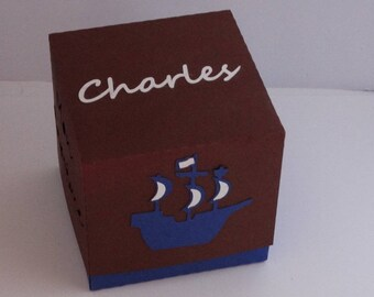 Box dragees pirate boat