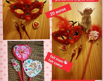 An Angel and a mask Valentine decorative pins and pendants
