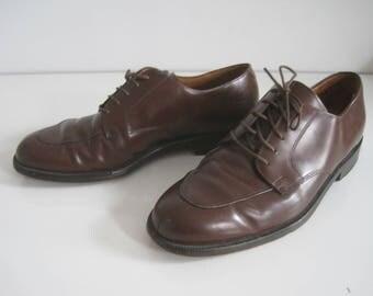 COLE HAAN City Vintage Shoes Mens Size 8 D Brown Leather A2005