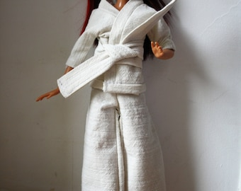 doll clothes, doll clothing, barbie kimono, karate clothes for doll