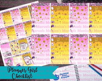 Planner Girl Layout and Functional stickers